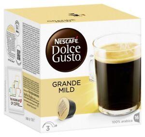 Lot de 3 3 x 16 Capsules Nescafé Dolce Gusto Grande Mild