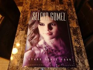 Selena gomez rare authentic signed vip stars dance tour poster image is loading selena gomez rare authentic signed vip stars dance voltagebd Choice Image