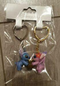 PORTE-CLES-Keychain-Disneyland-Paris-DUO-STITCH-ANGEL