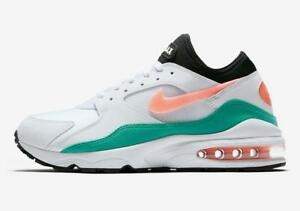 Details about NIKE AIR MAX 93 306551 105 WHITECRIMSON BLISS ORANGEKINETIC GREENBLACK