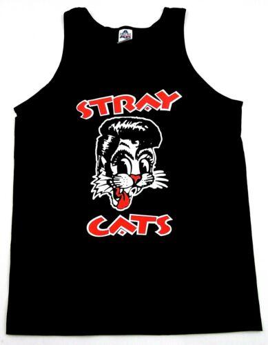 STRAY CATS Tank Top T-shirt Brian Setzer Rockabilly Cool Cat Tattoo Adult  Men