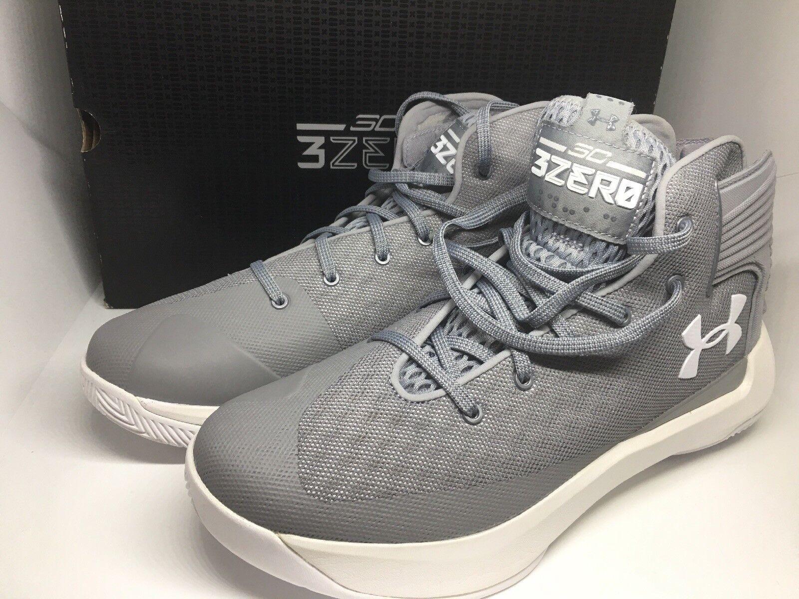 Under Armour Curry 3Zero Stealth grau Weiß 1298308-103 Größe 9 New in Box