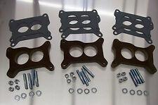 "Tri Power Holley Phenolic Insulator Spacer Chevy Six Pack Riser 67-69 Vette 1/2"""
