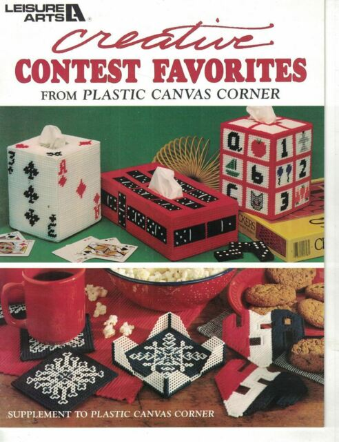 Creative Contest Favorites in Plastic Canvas Dominoes Tissue Box & Much More