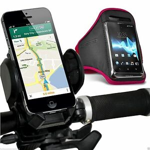 Quality-Bike-Bicycle-Handlebar-Phone-Holder-Sports-Armband-Case-Cover-Pink