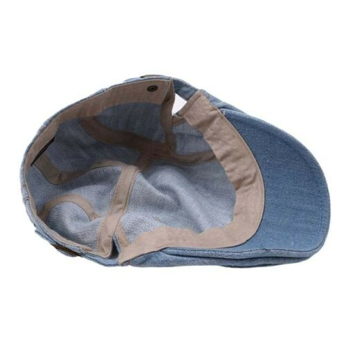 Pure Water Washed Denim Made Cap And Outdoor Sun Shade Hat Beret 6A