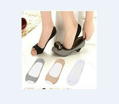 Women Cotton Elastic Invisible Liner No Show Peds Low Cut Toes Open Toe Sock