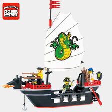 NEW ENLIGHTEN Pirates of the Caribbean Barbara Boat Blocks Minifigures Toys