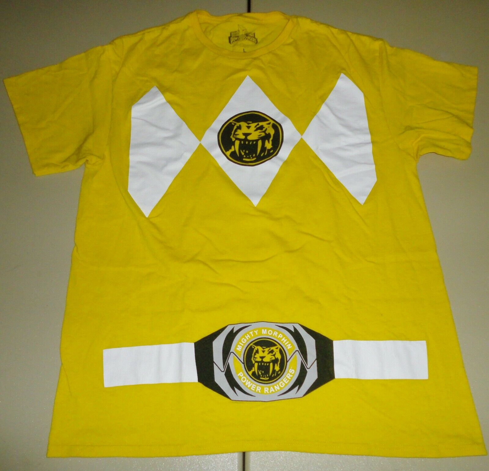 Used Vintage Pop Culture Shirts Power Rangers Yellow Large