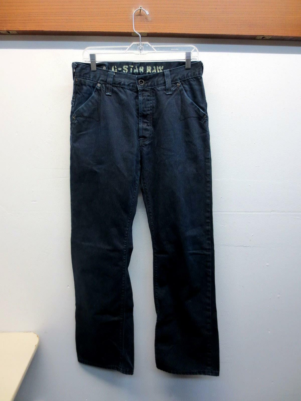 G. Star  Raw Dark bluee Men's Jeans 3301 relaxed boot , Size 31x34  meas. 33x33