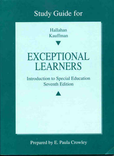 Exceptional Learners  Introduction to Special Education  Study Guide