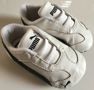 PUMA UK Size 2 (US Size 3) White Leather Kinder Fit First Walker Baby Crib Shoes   eBay