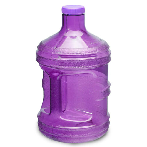Purple 1 Gallon BPA FREE Reusable Plastic Drinking Water Bottle Jug Container