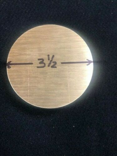 """3.500/"""" round Brass  ROD//BAR   1.00/"""" long   Lathe or milling Stock Details about  /3-1//2/"""""""