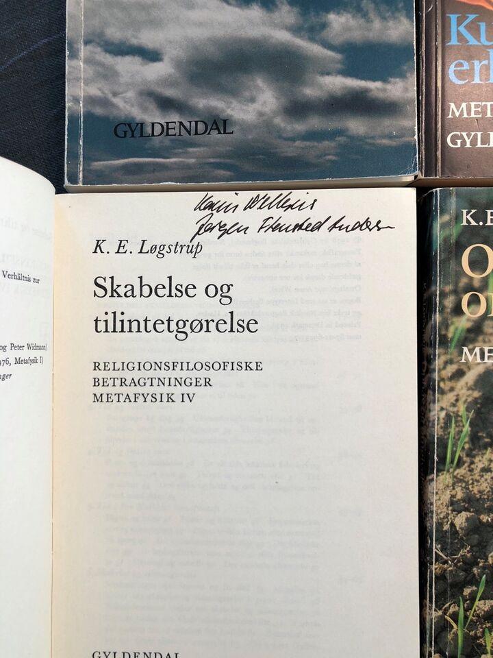 Metafysik 1-4 (førsteudgaver), K.E. Løgstrup, emne: