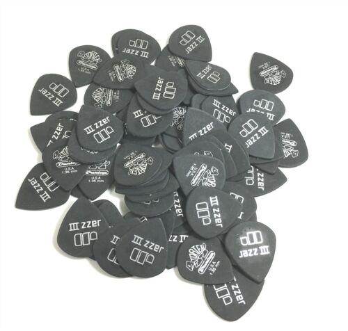 Dunlop Guitar Picks  Tortex Jazz   72 Pack  Pitch Black  1.35mm  482R1.35