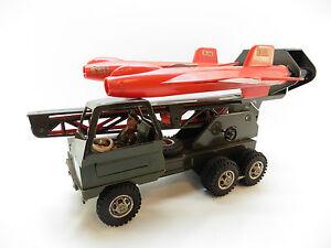 Hart Arbeitend Lot 33192 Original Strenco Doppel Raketenwerfer Lkw Militär X-15 Um 1960 Selten Original, Gefertigt 1945-1970