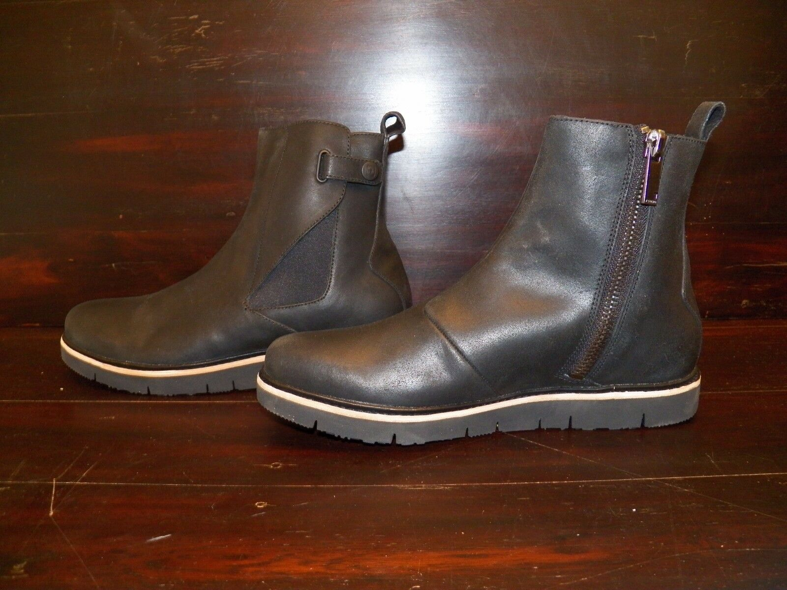 New Mens TSUBO Henson Black Leather Work Casual Fall Winter Church Ankle Boots