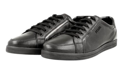 3e5892 Uk Sneaker Neu 5 Prada 6 40 Schwarz Schuhe New 5 Saffiano Luxus 39 ZBwHaqxIaf
