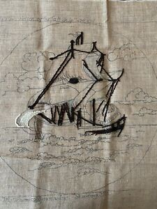 Primitive-Rug-Hooking-Pattern-039-Return-of-the-Tall-Ship-039-by-Jane-McGown-Flynn