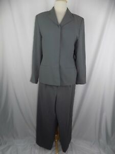 a78db59b83d17 LORD & TAYLOR 2-PC WOMEN'S PANT SUIT SIZE 10 GRAY Waist 28