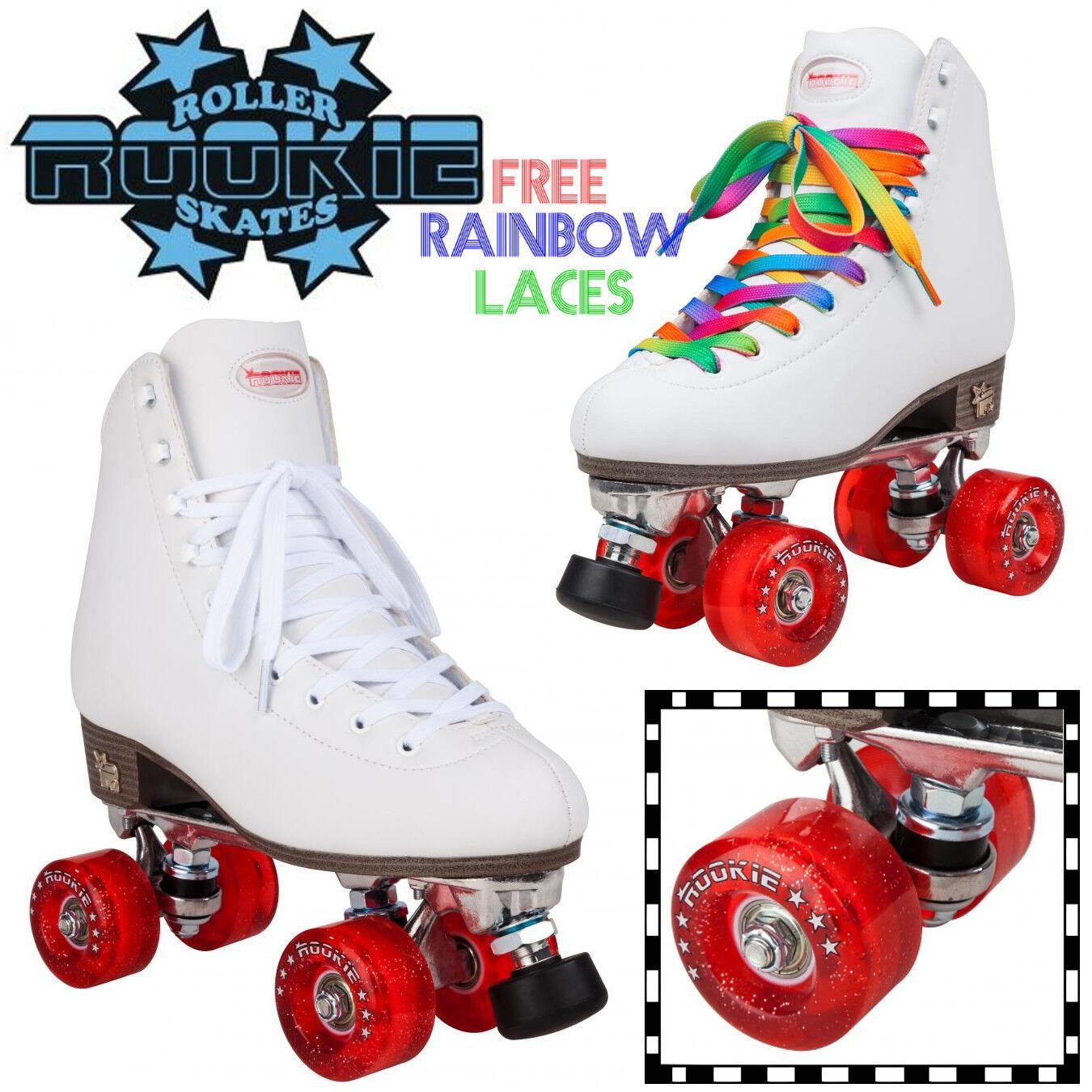 Rookie Classic Weiß Quad Roller Skates Kids Damenschuhe Roller Derby Derby Roller 360aaf