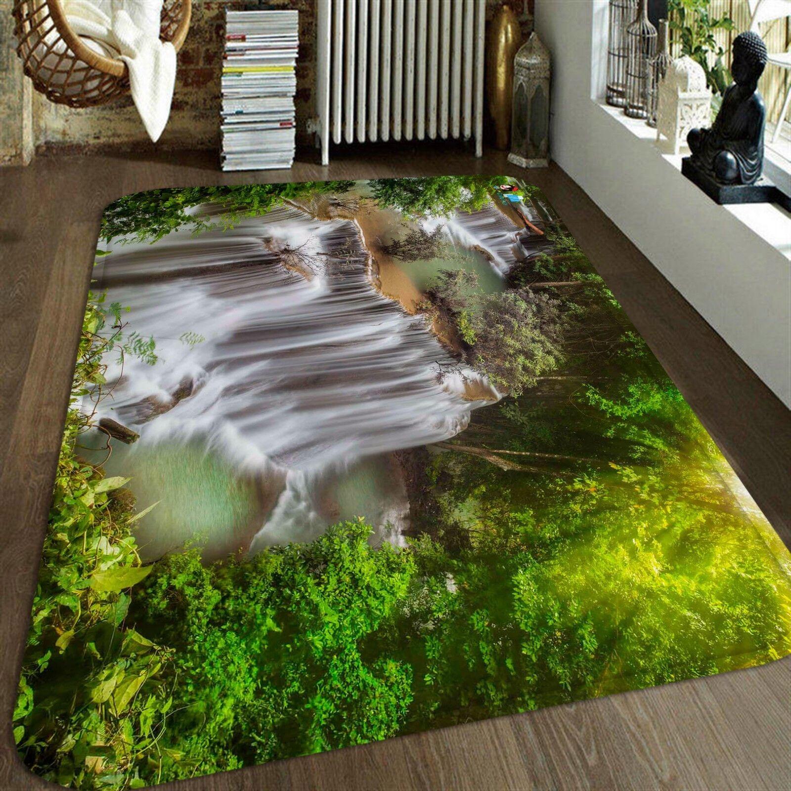 3D Ruscello Paesaggio 22 Pavimento Antiscivolo Tappeti Elegante Tappeto IT Cobb
