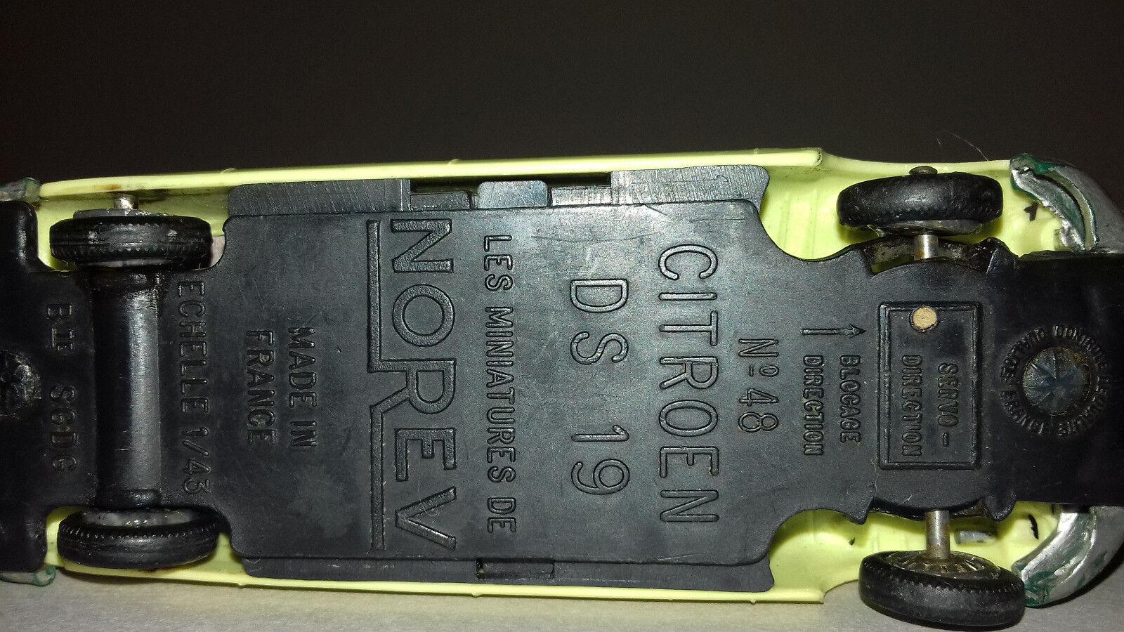 NOREV ancienne Citroen DS 19 19 19 N°48 échelle 1/43e roues av. pivotantes | Impeccable  9e9fc6