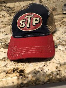6c8a20e2 VINTAGE MENS STP RICHARD PETTY BASEBALL CAP HAT SNAPBACK TRUCKER ...