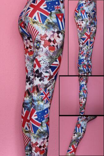 Collants Femmes UK printleggings S-XL coloré différentes couleurs Mardi Gras Carnaval
