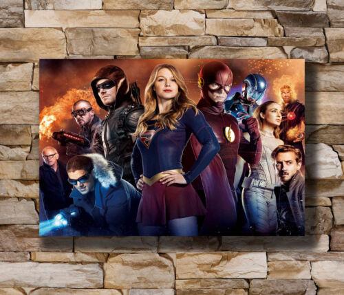 20x30 24x36In N133 Art Poster The Flash Arrow CW DC TV Series USA Superheroes