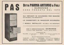 Z1319 Casseforti PAS - Saronno - Pubblicità d'epoca - 1936 Old advertising