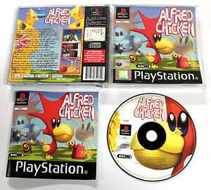 Sony-PLAYSTATION-PSX-PSOne-ALFRED-CHICKEN-2002-Mobius-SCES-03817-RARO