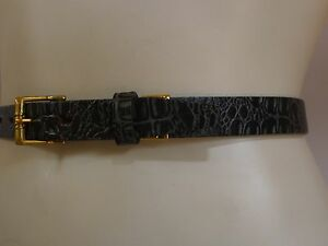 Vintage-retro-true-50s-unused-30-S-narrow-leather-belt-as-new-NOS-green