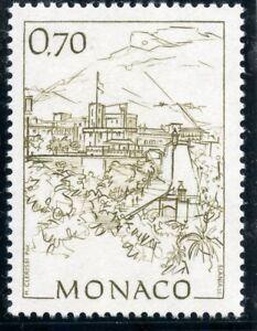 Monaco Architecture Timbre De Monaco N°1765 ** Monaco D'autrefois // Le Palais Princier