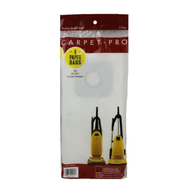 10-Pack Carpet Pro 06.415 Paper Vacuum Bags for Backpack Vacuum