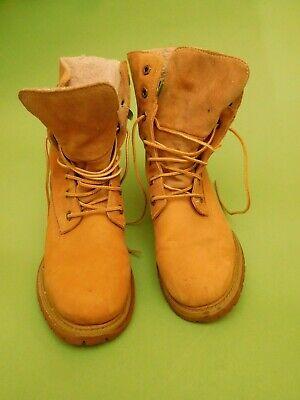 Timberland Damen Boots Stiefel Winterschuhe Größe ca. 40 hellbraun beige Leder | eBay