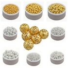 Wholesale New Gold&Silver Plated Alloy Spacer Loose Beads Charms 4 6 8 10 12 mm