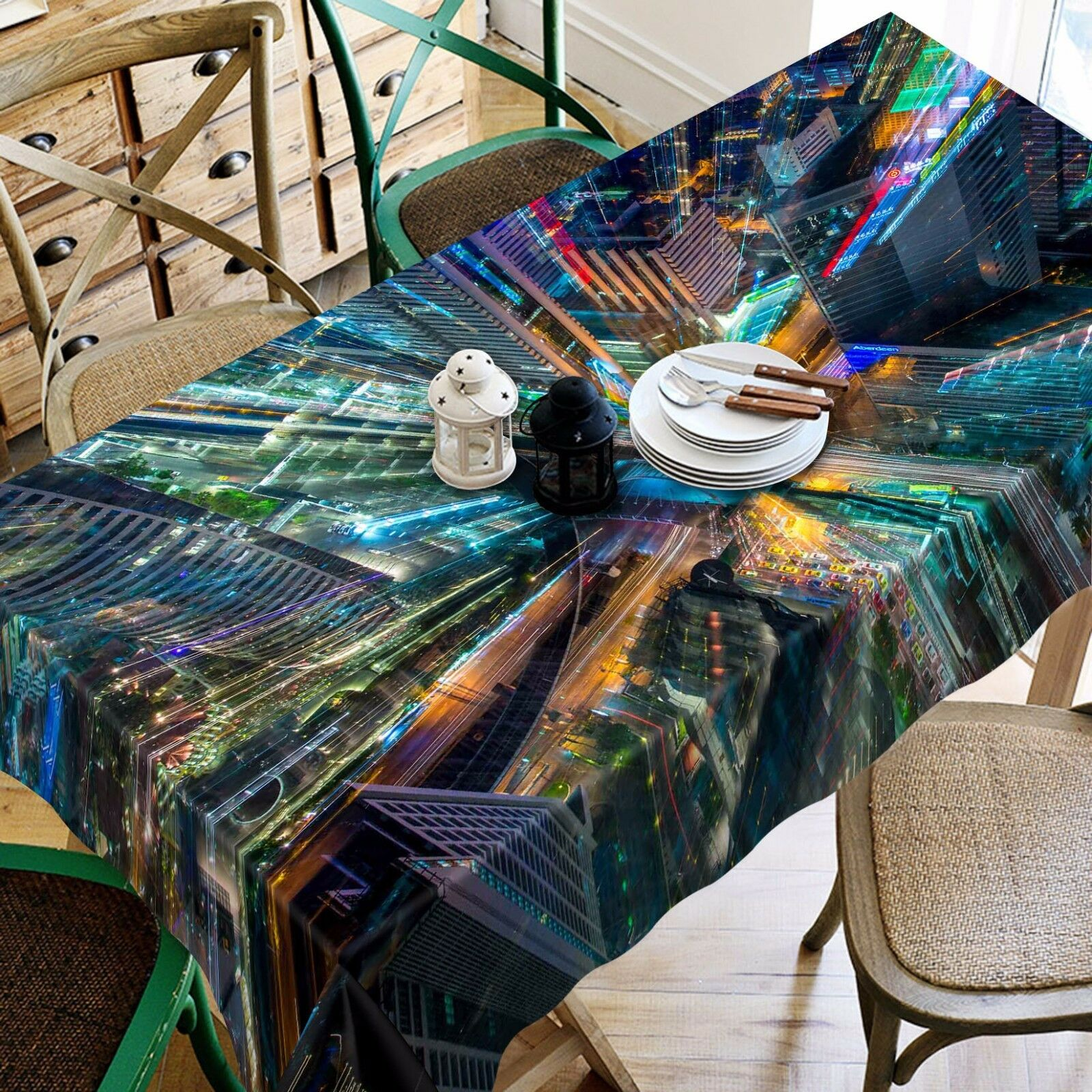3D Ceilin 4500 Tablecloth Table Cover Cloth Birthday Party Event AJ WALLPAPER AU
