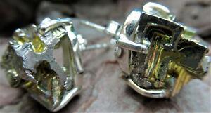 Ohrringe-Bismut-Kristall-Silber