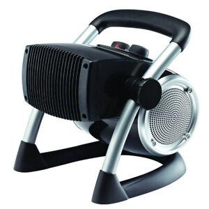 Lasko 5919 Pro Portable Electric 1500W Ceramic Utility Room Space Heater, Silver