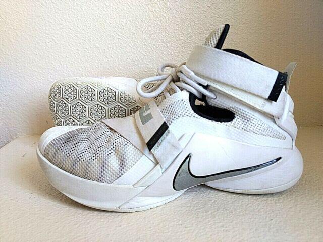 wholesale dealer 514ad df873 Nike Zoom LeBron James Soldier 9 IX White 749498-100 Basketball Shoes Mens  7.5