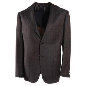 NWT-7495-KITON-Chocolate-Brown-Jersey-Cashmere-Sport-Coat-38-R-Eu-48