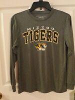 Mizzou Boys Long Sleeve Moisture Wicking Athletic Shirt S (8-10), M (12-14)
