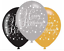 AGE-50-Happy-50th-Birthday-BLACK-amp-GOLD-SPARKLES-Party-Range-Banners-Balloons thumbnail 9