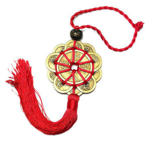 Feng-Shui-Chinese-Coins-Coin-for-good-Luck-PROSPERITY-PROTECTION-Charm-Tassel-EA