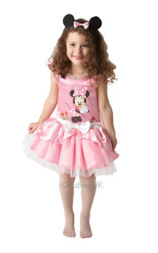 Girls Disney Minnie Mouse Pink Ballerina Fancy Dress Costume