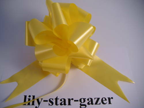 Wedding Reception Gift Party Decor 20 Yellow 50mm Instant Pull Bow Ribbons 5cm