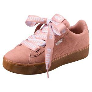 Details zu Puma Vikky Platform Ribbon Bold Damen Sneaker Schuhe 365314 Peach AUSVERKAUF