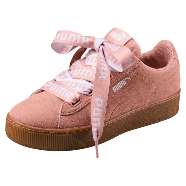 Puma Vikky Platform Ribbon Bold Ladies Sneaker Shoes 365314 Peach Sale